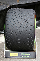 February 20, 2019 - Barcelona, Spain - intermediate tire during the Formula 1 test in Barcelona, on 20th February 2019, in Barcelona, Spain. (Credit Image: © Joan Valls/NurPhoto via ZUMA Press)