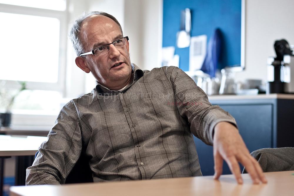 Groningen 20101020. Leendert de Boom, directeur Renn4, over toename aantal leerlingen met gedragsproblemen. foto: pepijn van den Broeke