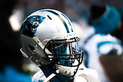 January 17, 2016: Carolina Panthers vs Seattle Seahawks.  A Panthers' helmet on the sidelines