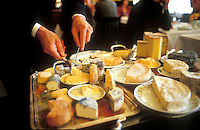 cheese service at the three star restaurant Le Grand Vefour, in Paris. French restaurants