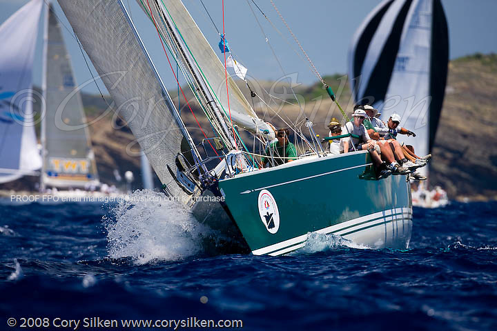 Murka sailing Race 4 at Antigua Sailing Week.