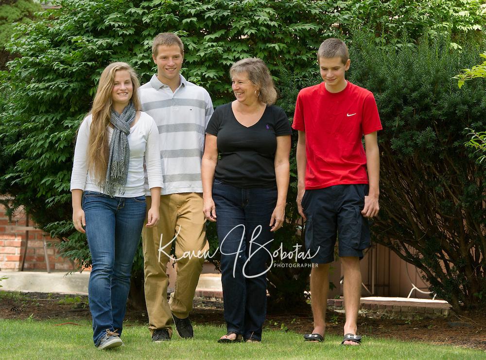 Mercer family and senior portrait session.  ©2015 Karen Bobotas Photographer