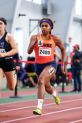 David Hemery Valentine Invitational<br /> Indoor Track & Field at Boston University , womens 400 meters, heat 6, Syracuse,