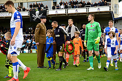 Mascot walk out - Mandatory by-line: Dougie Allward/JMP - 18/11/2017 - FOOTBALL - Memorial Stadium - Bristol, England - Bristol Rovers v AFC Wimbledon - Sky Bet League One
