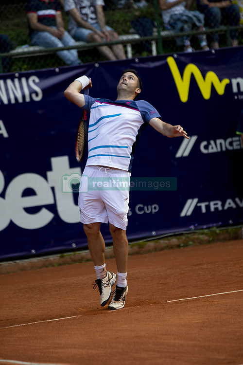 June 19, 2018 - L'Aquila, Italy - Daniele Bracciali during match between Facundo Bagnis (ARG)/Ariel Behar (URU) and Andrea Arnaboldi/Daniele Bracciali (ITA) during day 4 at the Internazionali di Tennis Citt dell'Aquila (ATP Challenger L'Aquila) in L'Aquila, Italy, on June 19, 2018. (Credit Image: © Manuel Romano/NurPhoto via ZUMA Press)