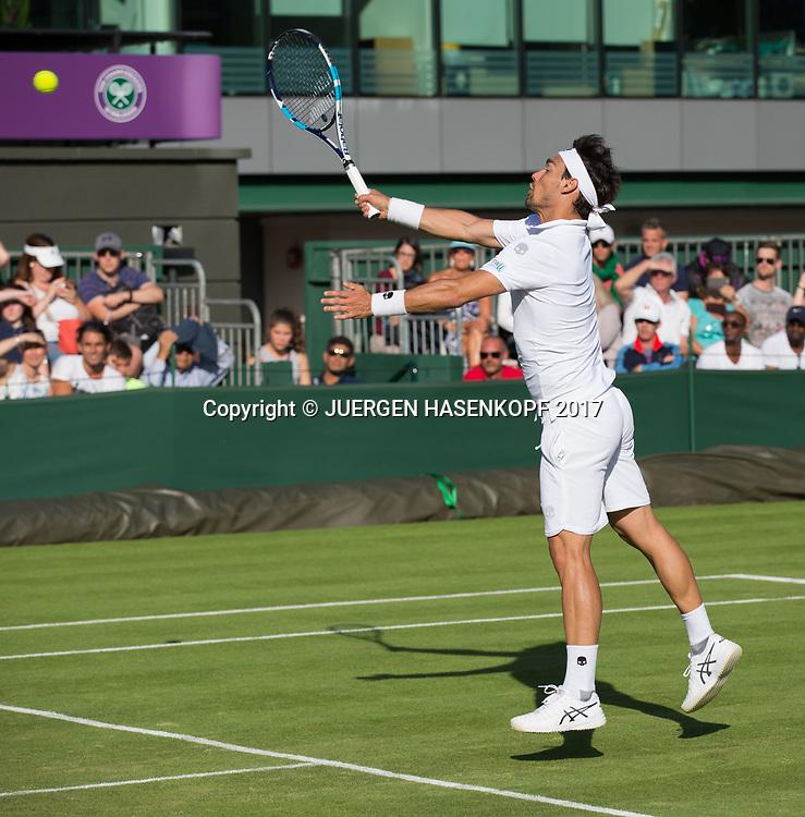 FABIO FOGNINI (ITA)<br /> <br /> Tennis - Wimbledon 2017 - Grand Slam ITF / ATP / WTA -  AELTC - London -  - Great Britain  - 3 July 2017.