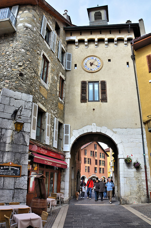 La Porte Sainte-Claire in Annecy, France <br />