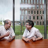 Nederland, Hoofddorp , 16 december 2014.<br /> Arjen Noordzij (l) en Jan-Paul Ezechiels.<br /> Foto:Jean-Pierre Jans