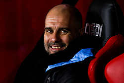 Manchester City manager Pep Guardiola takes his seat at Bramall Lane ahead of the Premier League fixture against Sheffield United - Mandatory by-line: Robbie Stephenson/JMP - 21/01/2020 - FOOTBALL - Bramall Lane - Sheffield, England - Sheffield United v Manchester City - Premier League