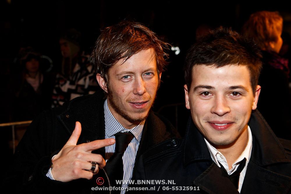 NLD/Amsterdam/20100308 - Premiere film Zwart Water, Robert de Hoog en Geza Weisz
