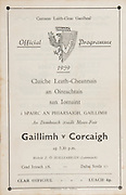 20th September 1959 All Ireland Senior Hurling Championship Semi-Final Programme