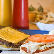 Mexican hamburger. Isla Mujeres, Quintana Roo. Mexico