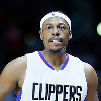 02 October 2015: Los Angeles Clippers forward Paul Pierce (34) rests during the Los Angeles Clippers 103-96 victory over the Denver Nuggets, in a preseason game, at the Staples Center, Los Angeles, California, USA.