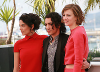 Nailia Harzoune, Rachid Youcef and Céline Sallette at the photo call for the film Geronimo, at the 67th Cannes Film Festival, Tuesday 20th May 2014, Cannes, France.