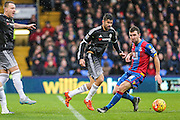 Crystal Palace's James McArthur and Chelsea's Diego Costa  during the Barclays Premier League match between Crystal Palace and Chelsea at Selhurst Park, London, England on 3 January 2016. Photo by Shane Healey.