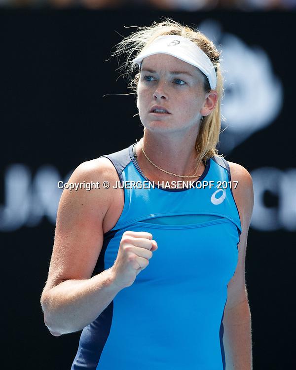 COCO VANDEWEGHE (USA) macht die Faust,<br /> <br /> Australian Open 2017 -  Melbourne  Park - Melbourne - Victoria - Australia  - 26/01/2017.