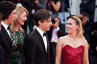 Venice, Italy, 29th August 2019, Adam Driver, Laura Dern, Director Noah Baumbach and Scarlett Johansson at the gala screening of the film Marriage Story  at the 76th Venice Film Festival. Doreen Kennedy / Alamy Live News
