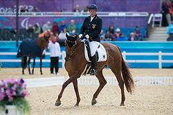 Näpel Britta (GER) - Aquilina 3<br /> Team Test - Grade II - Dressage <br /> London 2012 Paralympic Games<br /> © Hippo Foto - Jon Stroud