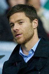 LIVERPOOL, ENGLAND - Sunday, December 13, 2009: Former Liverpool player Xabi Alonso returns to Anfield to see Liverpool take on Arsenal during the Premiership match at Anfield. (Photo by: David Rawcliffe/Propaganda)