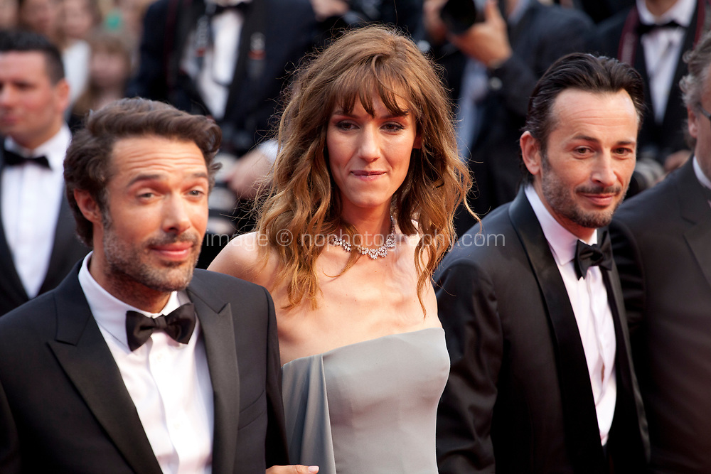 Michael Cohen, Doria Tillier, Nicolas Bedos, at the La Belle Epoque gala screening at the 72nd Cannes Film Festival Monday 20th May 2019, Cannes, France. Photo credit: Doreen Kennedy