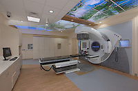 Architectural interior image of the Linear Accelerator room at Suburban Hospital Outpatient Center by Jeffrey Sauers of Commercial Photographics
