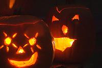Halloween jack-o-lantern carved pumpkins gourd all saints souls day