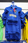 AFC Wimbledon home kit during the Leasing.com EFL Trophy match between AFC Wimbledon and Leyton Orient at the Cherry Red Records Stadium, Kingston, England on 8 October 2019.