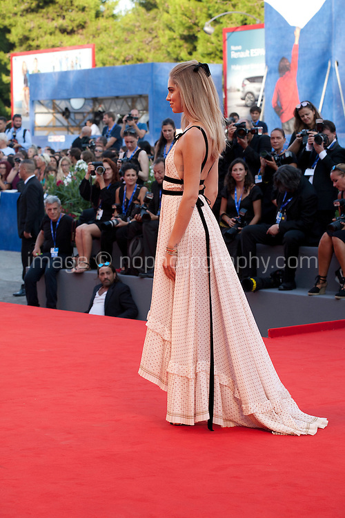 Chiara Ferragni at the premiere of the film The Young Pope at the 73rd Venice Film Festival, Sala Grande on Saturday September 3rd 2016, Venice Lido, Italy.