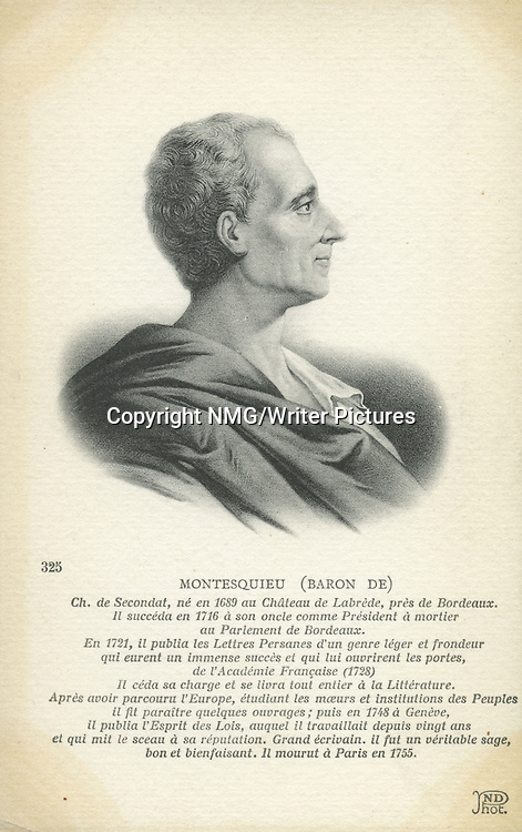 Montesquieu, French Social Commentator, and Political Thinker<br /> <br /> Copyright NMG/Writer Pictures<br /> WORLD RIGHTS