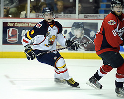 Alexander Burmistrov of the Barrie Colts in Game 3 of the Rogers OHL Championship Series in Windsor on Sunday May 2. Photo by Aaron Bell/OHL Images