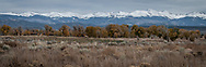 """Photograph of Southern Colorado's snow-capped Culebra section of the Sangre de Cristo Mountain range.<br /> <br /> AVAILABLE AS:<br /> <br /> Size 12"""" x 36"""" (30.48cm x 91.44cm approx)*<br /> Edition of ONLY 100 at this size.<br /> US$450 + shipping<br /> <br /> Hand printed in Taos, New Mexico, USA by Taos Print and Photography Services using archival inks and fine art paper. signed and numbered by hand.<br /> <br /> Contact jim@jimodonnellphotography.com to order"""