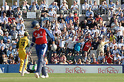 2005 Twenty/20 Cricket England vs Australia, The Rose Bowl, Southampton, Hampshire, ENGLAND 13.06.2005, Marcus Trescothick, indulges in a bit a gardening, as the crowd acknowledge his well hit four...Photo  Peter Spurrier. .email images@intersport-images...