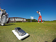 January 11 2015:  Billy Horschel tees off on number ten during the Third Round of the Hyundai Tournament of Champions at Kapalua Plantation Course on Maui, HI.