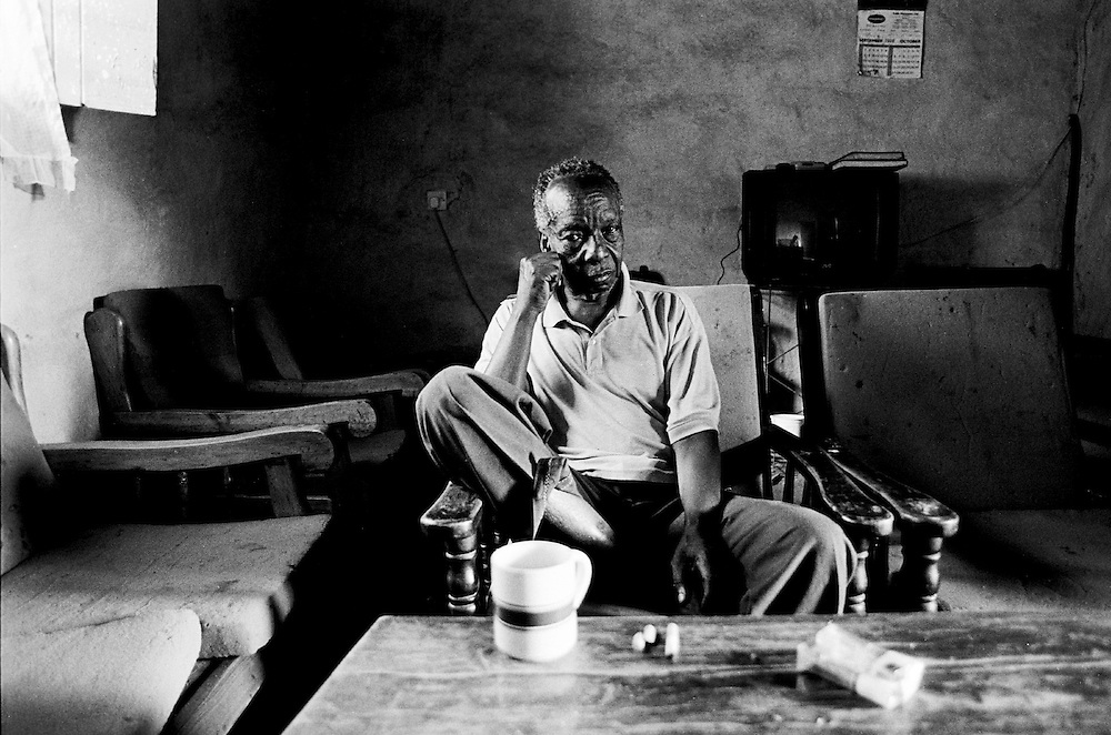 This 79-year-old Nubian man once lived on a large plot of land in the Lomle section of Kibera but in 1978 developers came, destroyed his family's home and forced them to move to another section of Kibera.