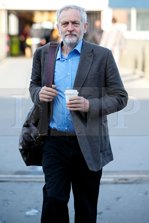 © Licensed to London News Pictures. 25/08/2015. Stevenage, UK. Labour Party leader candidate Jeremy Corbyn attending a husting for Radio 5 at Stevenage Arts & Leisure Centre in Stevenage on Tuesday, 25 August 2015. Photo credit: Tolga Akmen/LNP