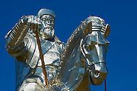 Mongolie, province de Tov, monument en honneur de Gengis Khan. // Mongolia, Tov province, Gengis Khan monument.