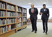 © licensed to London News Pictures. LONDON, UK.  14/06/11.Boris Johnson and Peter Andre launch a new literacy scheme at Botwell Green Library in Hayes, Middlesex, today 14 June 2011. The scheme will help encourage parents to read to their children. Photo credit should read Stephen Simpson/LNP