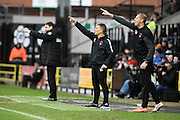 Notts County manager Jamie Fullarton points to his players during the Sky Bet League 2 match between Notts County and Leyton Orient at Meadow Lane, Nottingham, England on 20 February 2016. Photo by Jon Hobley.