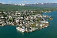 Akureyri main harbour, viewing northwest.