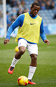 Queens Park Rangers defender Nedum Onuoha during his warm up before the Sky Bet Championship match between Queens Park Rangers and Ipswich Town at the Loftus Road Stadium, London, England on 6 February 2016. Photo by Andy Walter.