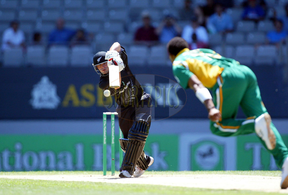13 February 2004, International one day cricket, Eden Park, Auckland, New Zealand. Match 1 in series of 6, New Zealand vs South Africa..Michael Papps..Pic: Andrew Cornaga/Photosport