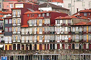 Portugal, Aveiro, Houses on the water front