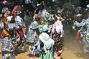 The women of Diabolo village dance during the Festival des marionettes géantes de Diabolo. Djenné