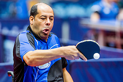 (EGY) TAMAM Mamdouh in action during 15th Slovenia Open - Thermana Lasko 2018 Table Tennis for the Disabled, on May 10, 2018 in Dvorana Tri Lilije, Lasko, Slovenia. Photo by Ziga Zupan / Sportida