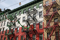 Custom painted building in Little Italy, New York, USA