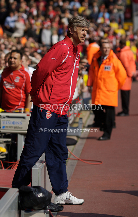 Liverpool, England - Saturday, March 3, 2007: Arsenal's manager Arsene Wenger before the Premiership match against Liverpool at Anfield. (Pic by David Rawcliffe/Propaganda)