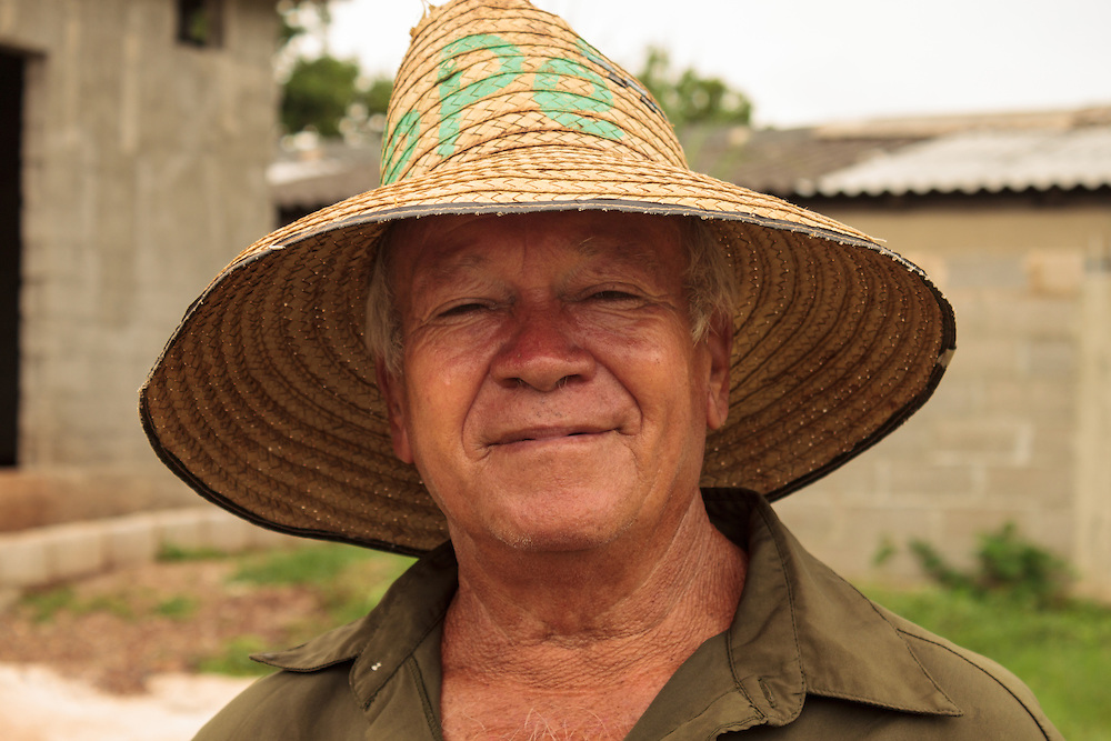 close up of Cuban man with large hat