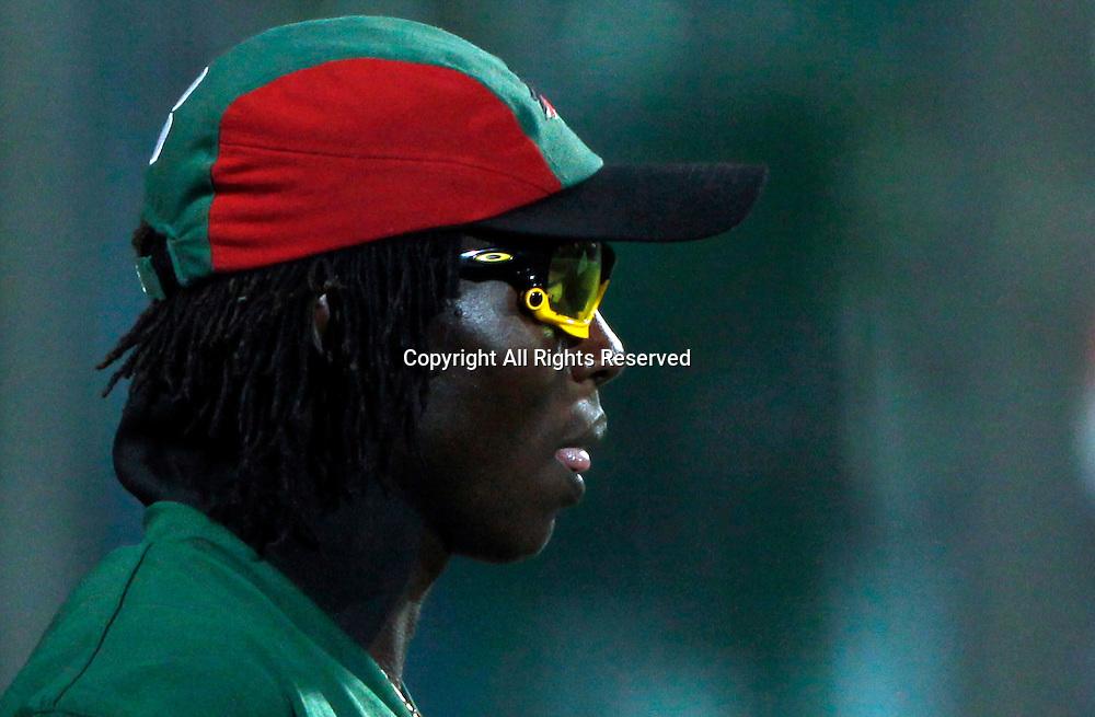 07.03.2011 Cricket World Cup from the Feroz Shah Kotla stadium in Delhi. Canada v Kenya. Nehemiah Odhiambo during the match of the ICC Cricket World Cup between Canada and Kenya