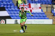 Forest Green Rovers Charlie Cooper(20) sprints forward during the Vanarama National League match between Tranmere Rovers and Forest Green Rovers at Prenton Park, Birkenhead, England on 11 April 2017. Photo by Shane Healey.