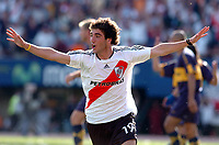 08/10/06 -Bs.As. - Argentina - RIVER PLATE (3) Vs. BOCA Jrs. (1) in the Argentine Football Derby . Match at the River Plate Monumental Stadium.<br /> Here  River Plate GONZALO HIGUAIN celebrating his second goal<br /> Torneo Apertura 2006/2007.<br /> © Argenpress.com / PikoPress